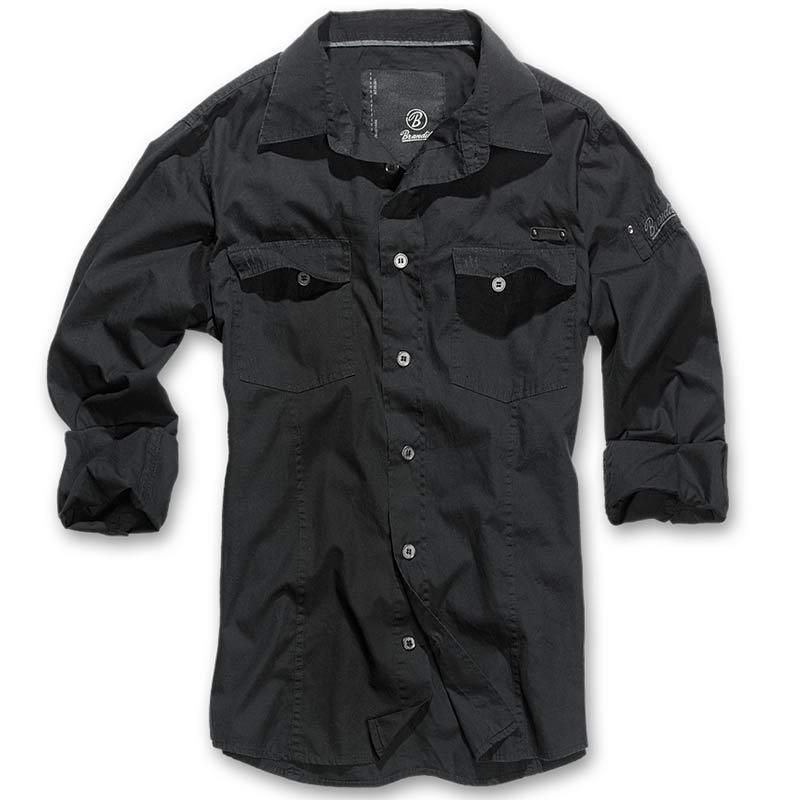 Brandit SlimFit Shirt-Black  d1da239837