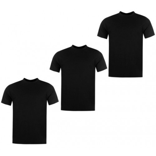 3-pack T-shirts-Black