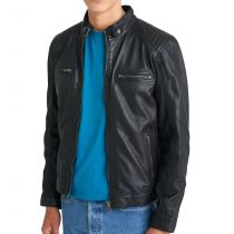 Leather jacket-Advance-Black