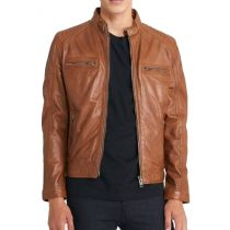 Leather jacket-Advance-Cognac