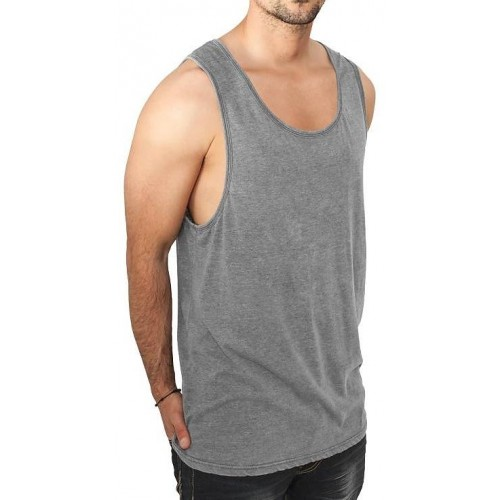 Urban Classics-Burnout Jersey Big Tank-Grey