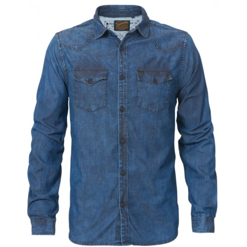 Petrol shirt 435 shirt-Light indigo