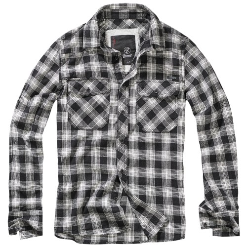 Creek checkshirt -Black-off white