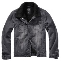 Denim Sherpa denim jacket-Black