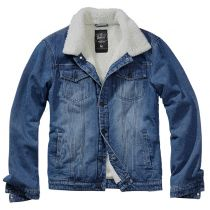 Denim Sherpa denim jacket-Blue