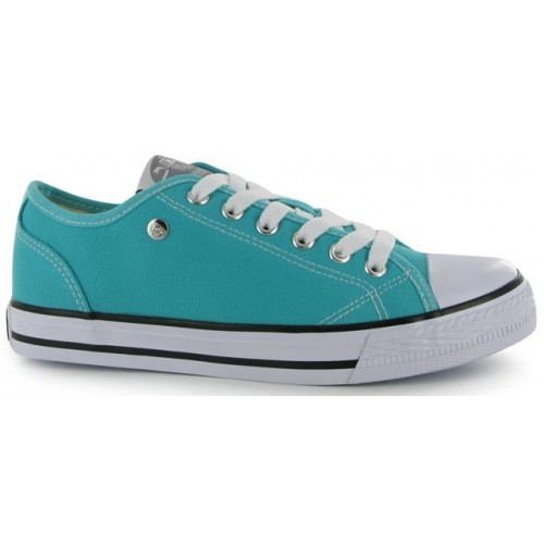 Dunlop-Canvas Low Ladies Teal