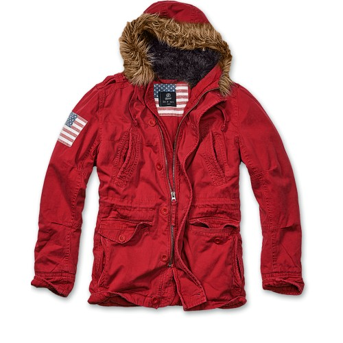 Vintage Explorer Jacket-Red