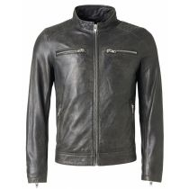 Leather jacket Harvey-Black
