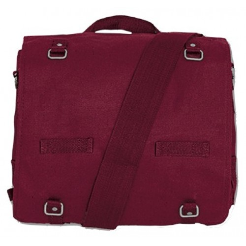 Army Canvas Bag - Dark red