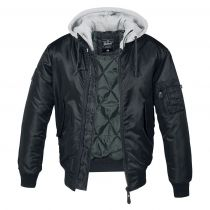 MA1 Hooded Jacket-Black-grey