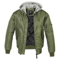MA1 Hooded Jacket-Olive-grey