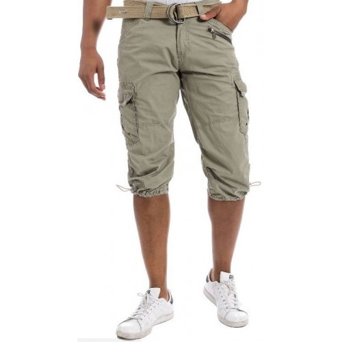 Timezone Miles 3/4 shortsit-Army green