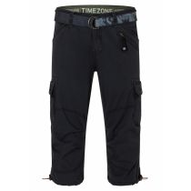Timezone Miles 3/4 shortsit-Washed black