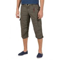 Timezone Miles 3/4 shortsit-Washed olive