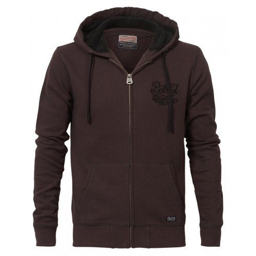 Petrol zip hood 306-Brown