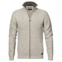 Petrol-Knit jacket 230-natural white