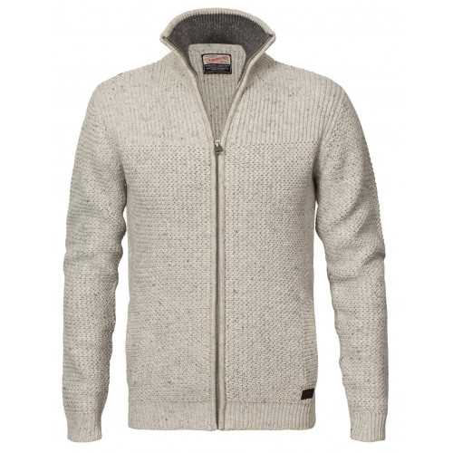 Petrol knit jacket 209-Natural white