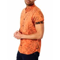 Petrol shortsleeve shirt 409-Washed orange