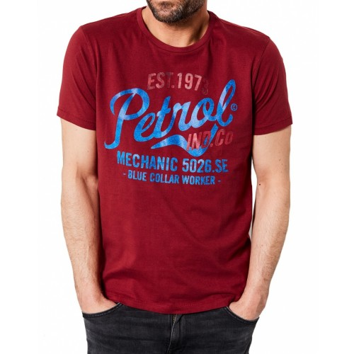 Petrol T-shirt 602-Wine red
