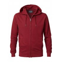 Petrol zip hood 001-Wine red