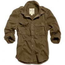 Raw Vintage Shirt longsleeve -Brown