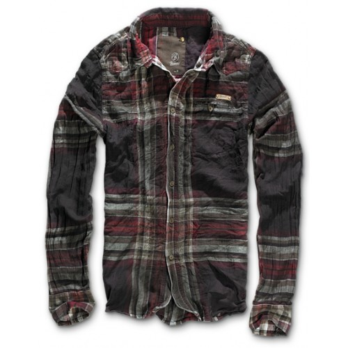 Raven Wire Shirt-Choco/Red
