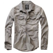 Riley denim Shirt-Washed Grey