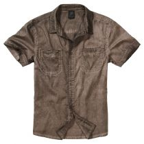Heavy washed shirt-Brown