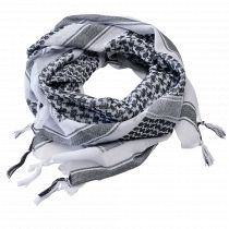 Shemagh Scarf-White-black