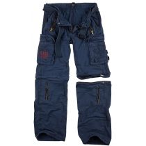 Traveler Zip off pants-Navy blue