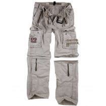 Traveler Zip off pants-Natural white