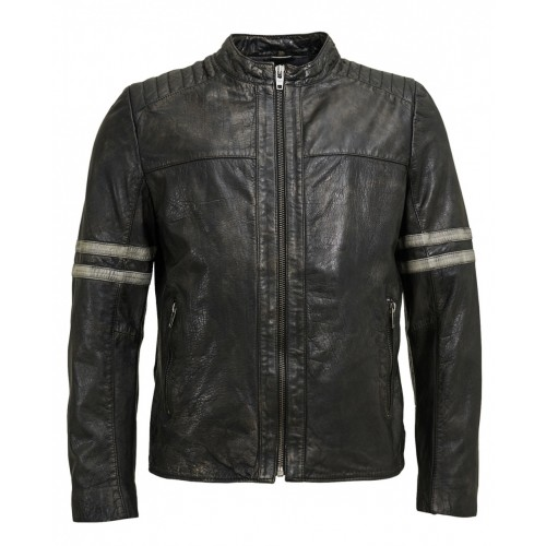 Leather jacket-Trust