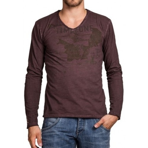 TimeZone-longsleeve shirt-Fudge Brown