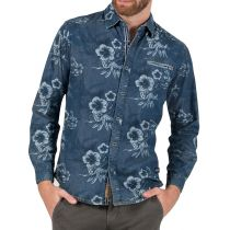 TZ  Hawaii shirt 10053-Aged blue