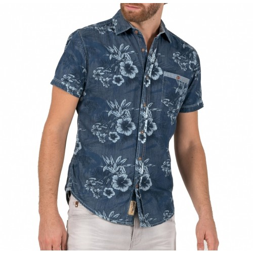 TZ Hawaii shortsleeve 10052-Blue