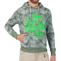 TZ Hawaii Print Hoodie-olive jungle