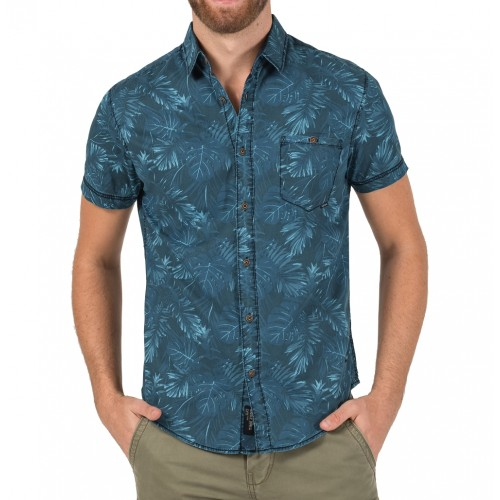 TZ Jungle shortsleeve 10050-Blue jungle