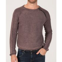Timezone Knit pullover 10006-Oxblood red