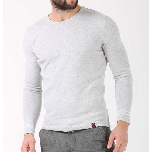 Timezone Knit Pullover 10024-light grey
