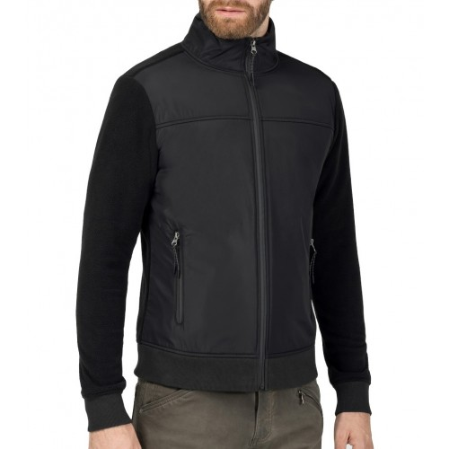 Timezone nylon-fleece zipjacket 10082-Black