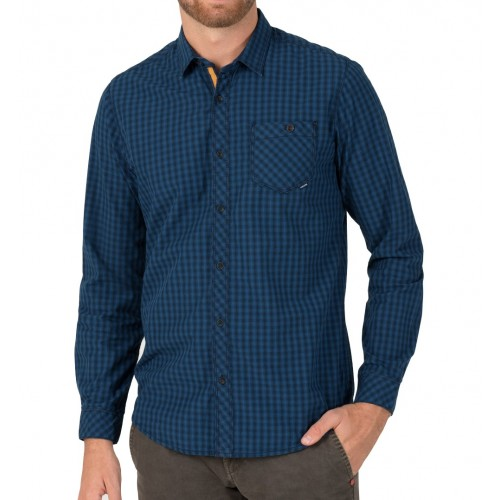 TZ longsleeve shirt 10036-Dark blue check