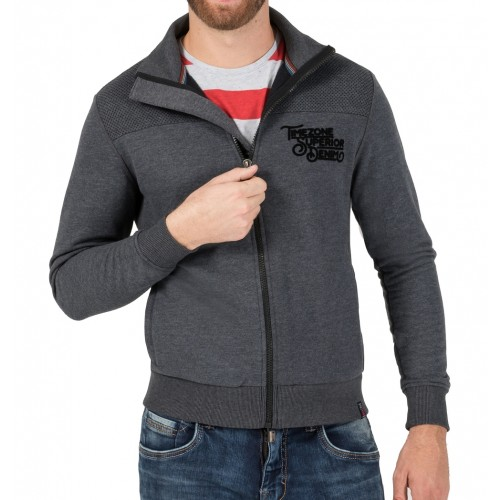 Timezone sweat zipjacket 10064-Grey