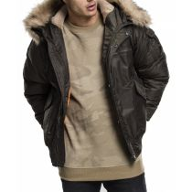 Urban fur bomber Jacket-Dark olive