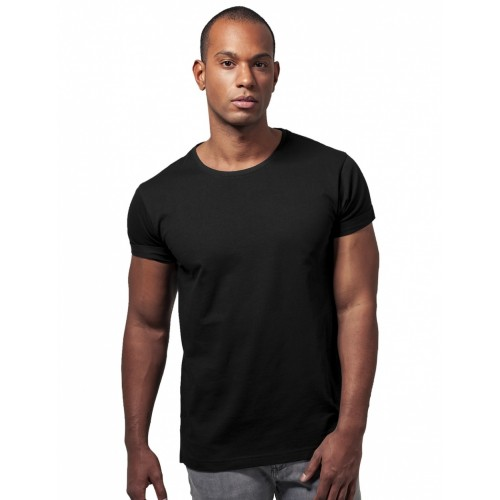 Urban turn up T-shirt -Black