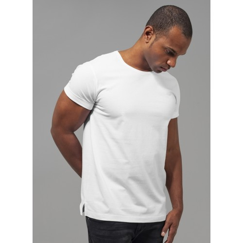Urban turn up T-shirt -White