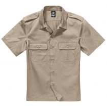 US-Shirt shortsleeve-Beige