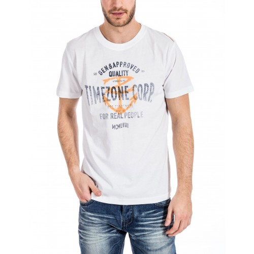 TimeZone T-shirt 0176-White