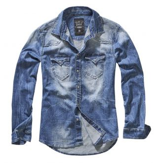 Riley denim Shirt-Washed blue