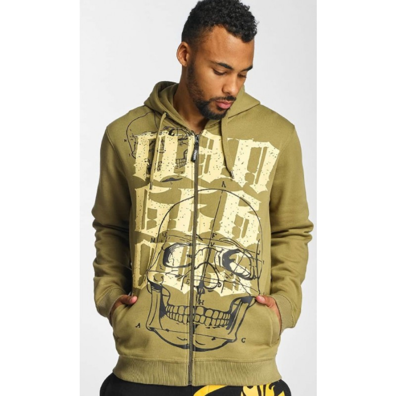 DNGRS Atomic zip hoody-Olive
