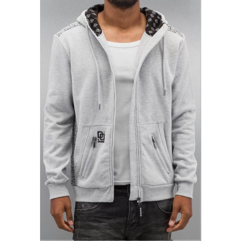 DNGRS Elephant zip Hoody-Grey
